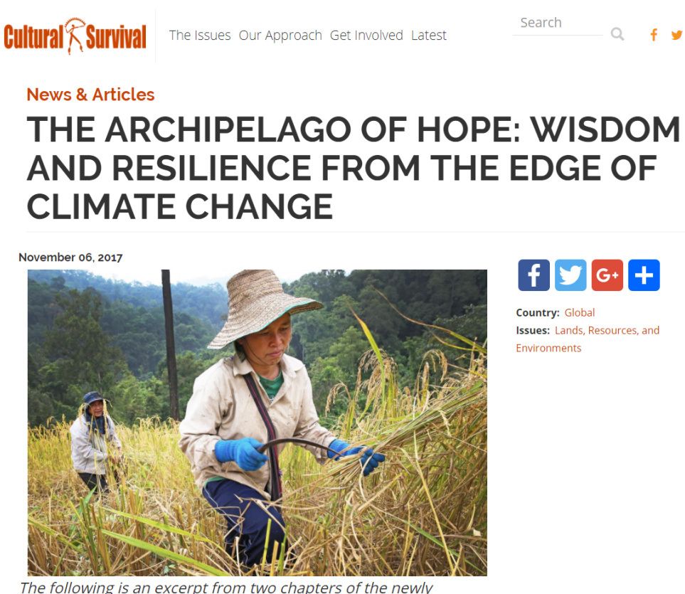 Cultural Survival, Review of Archipelago of Hope by Gleb Raygorodetsky
